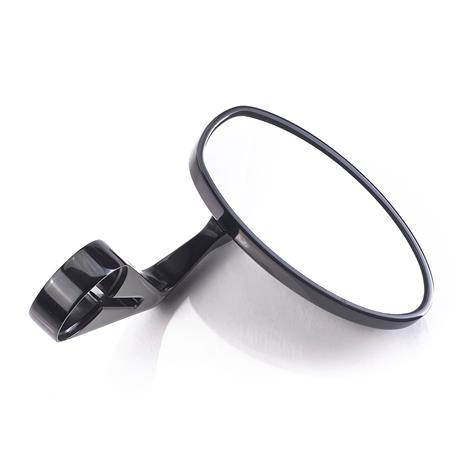Mini Oval Bar End Mirror in Black