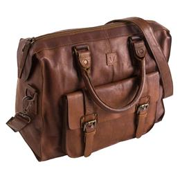 Tan Leather Overnight Bag